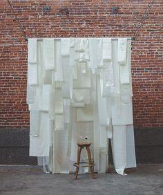 hanging fabric backdrop
