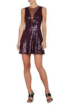 BCBG SELINA SLEEVELESS PLUNGING V-BACK DRESS $198