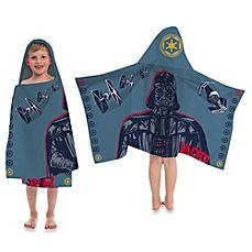 image of Disney® Star Wars™ Printed Characters Cape-Style Hooded Towel