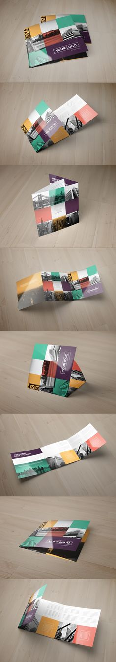 Colorful Square Trifold on Behance