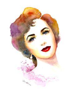 watercolor portrait - Buscar con Google