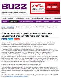The Buzz: Children love a birthday cake – Free Cakes for Kids Newbury and area can help make that happen.
