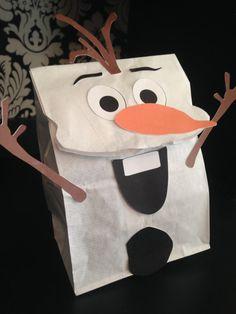 Snowman Party Favor Sack Faces (color)