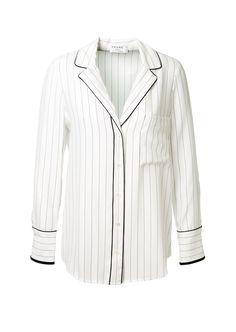 FRAME Frame Denim White Silk Shirt. #frame #cloth #