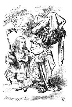 Alice in wonderland drawing by John Tenniel public domain