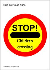 Role-play road signs (SB446) - SparkleBox