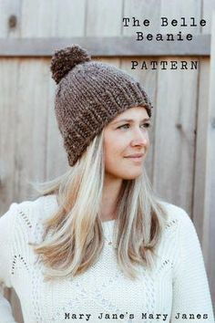 062c7c37497e 1 ball thick and quick The Knitted Belle Beanie   Free Pattern