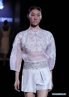 Chinese designer Xie Feng at Paris Fashion Week