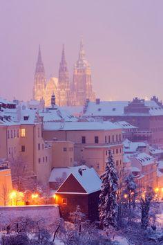 Hradčany in winter, Prague