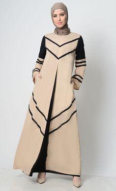 East Essence Abaya Dress  -  at PlusSizeDesi.com #psdesi #plussize #plussizedesi #desiclothing #psd Modest Wear, Modest Outfits, Black Abaya, Kaftan Style, Perfect Wardrobe, Pakistani Outfits, Baby Dress, Casual Wear, Cold Shoulder Dress