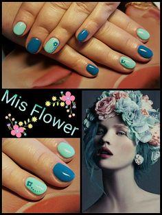 #mis #flower #nailtutorial #mint #spring #happyhand #laimongosrankos #didierlab #no29 #no53