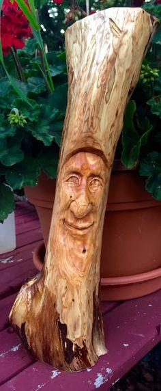 Elizabeth Brown Woodcarving. This happy fella is hand carved in juniper.