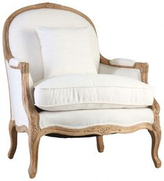 Our romantic Theon lounge chairs are upholstered in lush linen fabrics and framed in Oak. With French country charm and antique lines, these pieces are perfect for your living room. Furniture, Lounge Chair, Linden Homes, Oak Wood, Bergere Chair, Chair, Armchair, Oak, Lounge