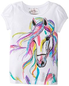 Beautees Little Girls Horse Screen T-Shirt for only $9.99 You save: $8.01 (44%)