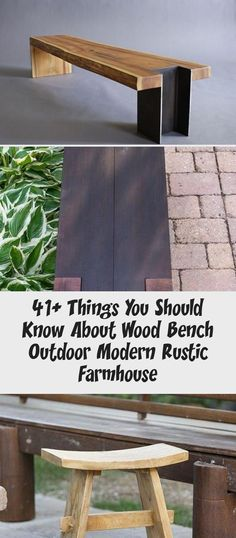 Things You Should Know About Wood Bench Outdoor Modern Rustic Farmhouse - woodworking projects beautiful Wooden Garden Furniture, Teak Furniture, Diy Wood Bench, Wooden Patios, Rustic Farmhouse, Rustic Wood, Affordable Furniture, Modern Rustic, Woodworking Projects