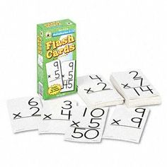 """Carson-Dellosa Publishing Flash Cards - Flash Cards, Multiplication Facts 0-12, 3w x 6h, 94/Pack by Carson-Dellosa Publishing. $15.12. Classroom Teaching & Learning Materials. Math Materials. An indispensable educational tool to help students study and memorize. Sturdy two-sided cards feature rounded corners for easy sorting. Includes one resource card. Width: 3"""" Height: 6"""".Unit of Measure : Pack"""