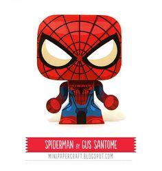 Mini Papercraft: Superheroes