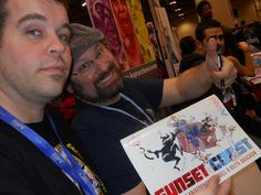 SUNSET COAST Creators and Creations. All of the year ONE strips collected!! At Toronto ComiCon 2013 with Kristopher Waddell and Keith Grachow!!
