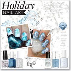 """Holiday Nail Art"" by daha-mk on Polyvore"