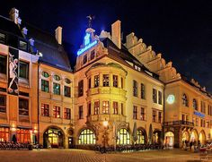 World famous Hofbräuhaus ~ Munich,  Bavaria, Germany ... touristy due to being on everyone's list, but with good cause. Still an excellent beer hall and restaurant!