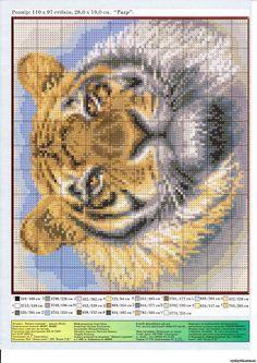 GRAFICOS PUNTO DE CRUZ GRATIS : TIGRES(31) Owl, Bird, Pictures, Animals, Image, Knitted Cushions, Tigers, Horses, Dots