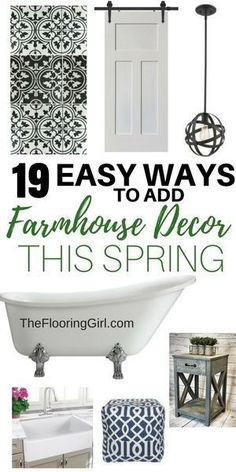 19 Easy ways to add Farmhouse Decor this spring. #farmhouse #decor #farmhousestyle #rustic #homedecor