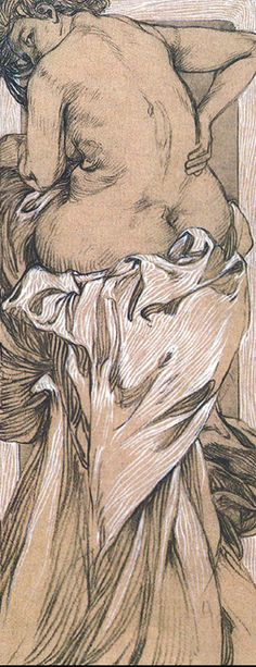 drawing by Mucha