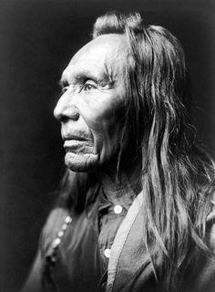 Three Eagles, Nez Percé Native American. c. 1910. Photograph by Edward S. Curtis.