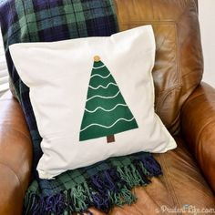 Make this modern rustic pillow for $5 with no sewing!