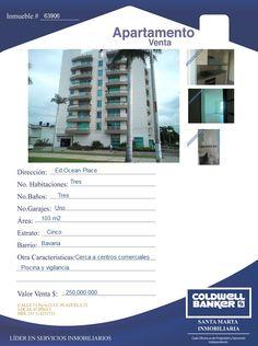 Apartamento en Venta - Santa Marta  #venta #inmuebles #apartamentos #inmobiliaria #santamarta
