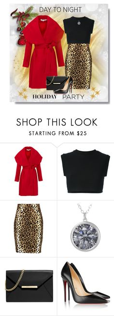 """Day to Night: Holiday Party"" by elena-indolfi ❤ liked on Polyvore featuring Keepsake the Label, adidas Originals, Milly, MICHAEL Michael Kors, Christian Louboutin, DayToNight, zazzle, HolidayParty and elenaindolfi"