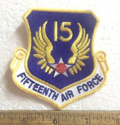 United States Air Force – 15th Air Force Shield Embroidered Patch