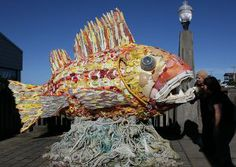 Meet Henry the Fish - The Washed Ashore Project builds large art sculptures of sea life made from plastic marine debris. Our unique art pieces are part of a traveling exhibition which includes educational signage and programs that encourage reducing, refusing, reusing and recycling.
