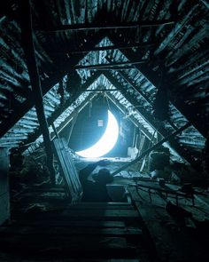 Russia-based artist Leonid Tishkov and photographer Boris Bendikov have created a fantastical realm illuminated by moonlight.