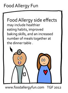 Food Allergy Fun: Side Effects - Food Allergy Cartoon