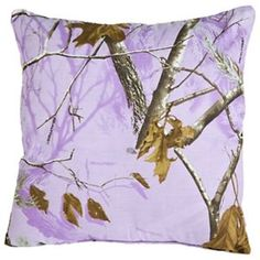 "Bass Pro Shops Realtree APC Lavender Collection Pillow - 18"" x 18"""
