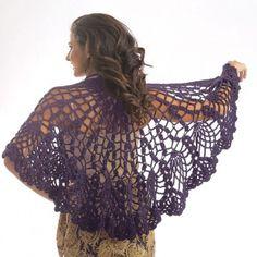 Free Pineapple Shawl Crochet Pattern - Free Patterns - Books & Patterns