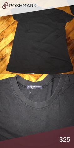 Brandy Melville navy t shirt Super cut never worn brandy Tshirt rare Brandy Melville Tops Tees - Short Sleeve