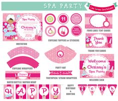 86 Best Girls Spa Birthday With Free Printables Images