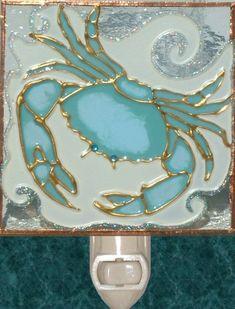 Carolines Treasures Umberella Cocktail Yellow Polkadot Ceramic Night Light 6x4 Multicolor