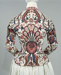 Chintz jacket, 1810 - 1820.