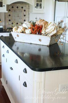 Fall Decor In Primitive Box In A Southern Kitchen Fall Kitchen Decor, Fall  Home Decor