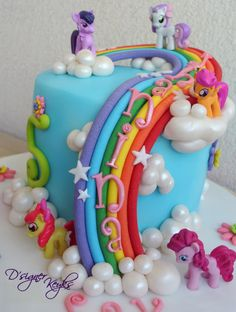 My Little Pony Theme Cake - cake by Phey - CakesDecor