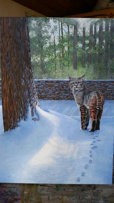 """""""In the Shadows"""" 18x24"""" Acrylic on gallery wrapped linen canvas by artist Darcy Gerdes"""