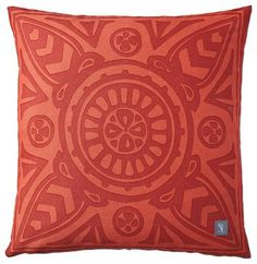 Poppy Scarf Print Outdoor Pillow - eclectic - outdoor pillows - Serena & Lily
