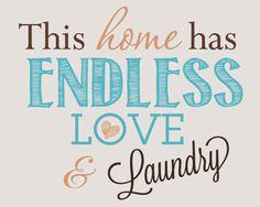 Laundry Room Decor Print (8x10) FREE printable