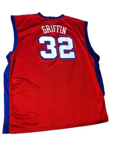Mens Blake Griffin Los Angeles Clippers Jersey 4X Adidas Red White