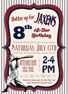 """Wording """"Batter Up"""" for the Topcon Road Show ? Baseball Theme Birthday, Sports Birthday, Baby Boy 1st Birthday, Boy Birthday Parties, Birthday Party Invitations, Birthday Ideas, Baseball Party Decorations, Lincoln Birthday, Party Places"""