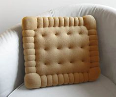 Petit Beurre Cushion by Maxime Pécourt