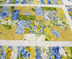 Quilting on the Summer Breeze table runner at Freemotion by the River